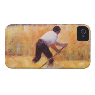 Mowing by Georges Seurat Case-Mate iPhone 4 Case