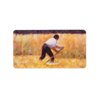 Mowing by Georges Seurat Address Label