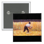 Mowing by Georges Seurat Pins