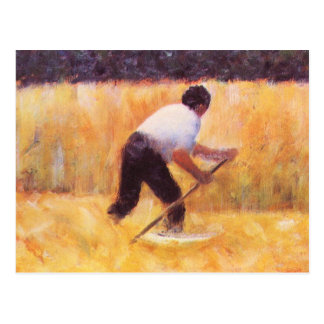 Mowing by Georges Seurat Postcard