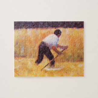 Mowing by Georges Seurat Puzzles