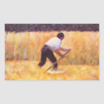 Mowing by Georges Seurat Rectangular Stickers