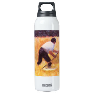 Mowing by Georges Seurat 16 Oz Insulated SIGG Thermos Water Bottle
