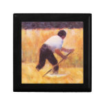 Mowing by Georges Seurat Trinket Boxes