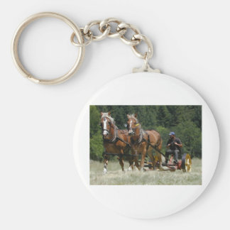 Mowing Hay Keychain