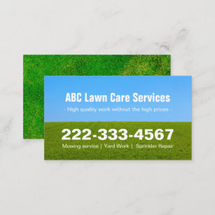 Lawn care business cards 600 lawn care business card templates mowing lawn care green field grass blue sky business card colourmoves