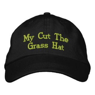 Mowing The Lawn. Embroidered Baseball Hat
