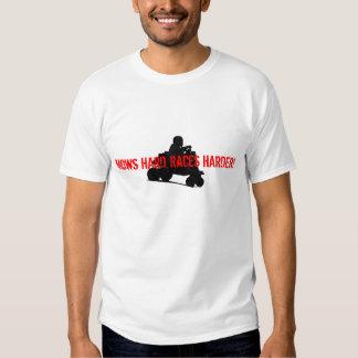 Mows Hard Lawnmower Racing T Shirt