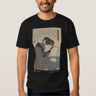 Moxibustion japonés - camiseta negra polera