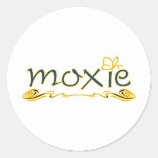 Moxie Classic Round Sticker