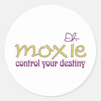 Moxie - control your destiny! classic round sticker