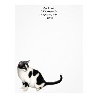 Moxie el papel con membrete del gato del smoking membrete a diseño