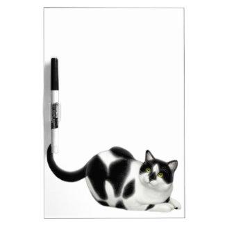 Moxie el tablero seco del borrado del gato del tablero blanco
