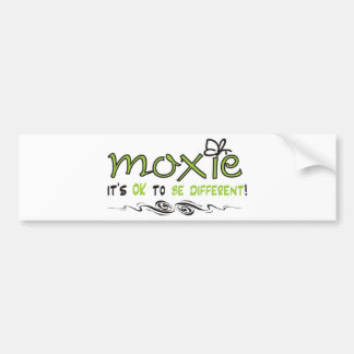 ¡Moxie - es ACEPTABLE SER DIFERENTE Pegatina De Parachoque