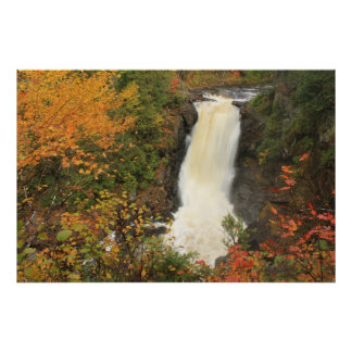 Moxie Falls in Autumn The Forks Maine Poster