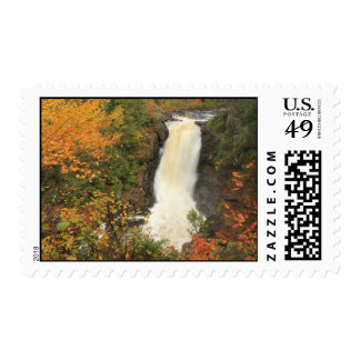 Moxie Falls in Autumn The Forks Maine Stamp