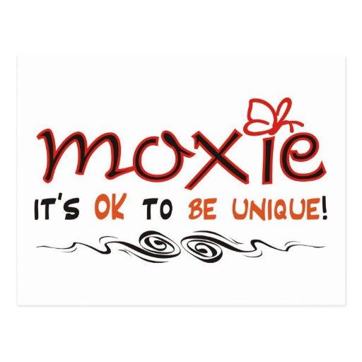 Moxie - It's OK to BE UNIQUE! Postcard