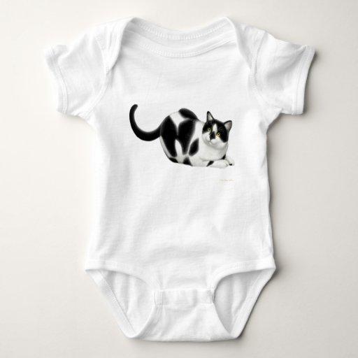 Moxie la enredadera del niño del gato playeras