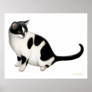 Moxie la impresión del gato del smoking poster