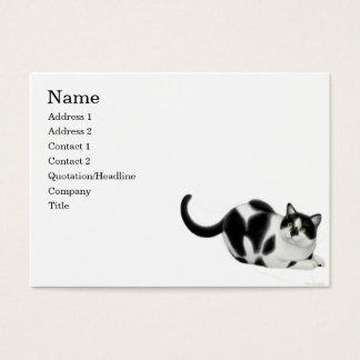 Moxie la tarjeta de visita del gato del smoking