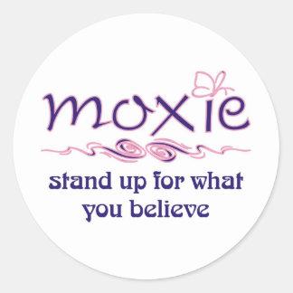 Moxie - levántese y crea etiqueta