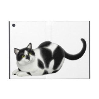 Moxie the Black & White Cow Cat iPad Mini Case