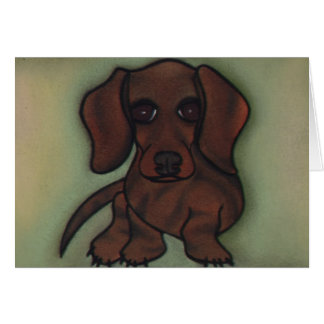 Moxie the Doxie by Robyn Feeley Card