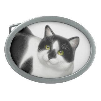 Moxie the Tuxedo Cat Belt Buckle