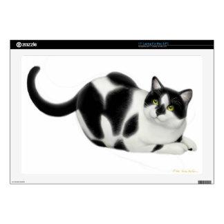 Moxie the Tuxedo Cat Laptop Skin