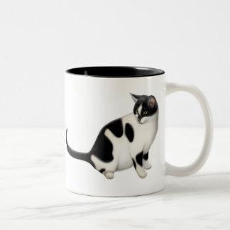 Moxie the Tuxedo Cat Mug