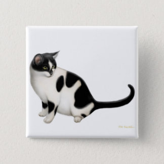 Moxie the Tuxedo Cat Pin