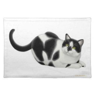 Moxie the Tuxedo Cat Placemat