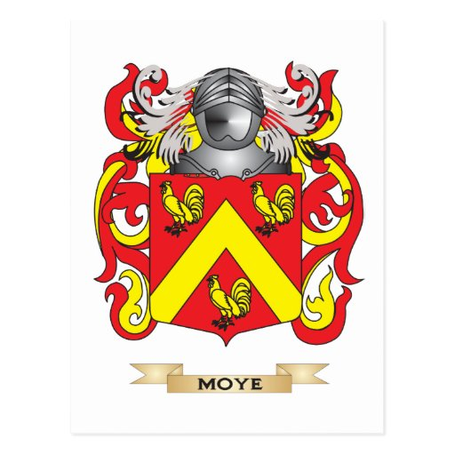 Moye Coat of Arms (Family Crest) Postcards
