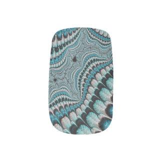 Moza descarada del fractal del tocado del nativo arte para uñas
