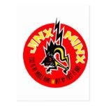 MOZA DESCARADA del JINX roja y amarilla Postal