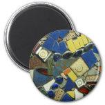 Mozaic 010 imán redondo 5 cm