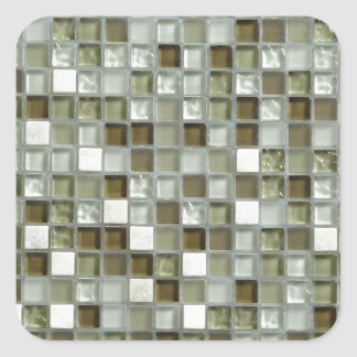 MOZAIC TILING LOOK ITEM SQUARE STICKER