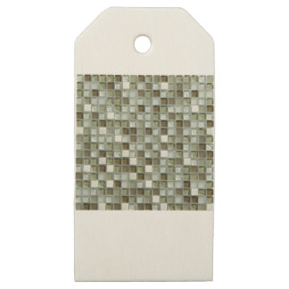 MOZAIC TILING LOOK ITEM WOODEN GIFT TAGS
