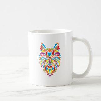 mozaic wolf coffee mug