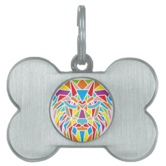 mozaic wolf pet tag