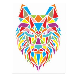 mozaic wolf postcard