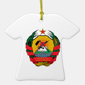 Mozambique Coat of Arms Christmas Ornaments