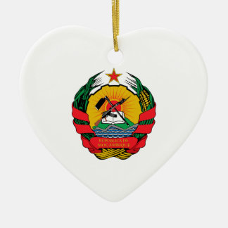 Mozambique Coat of Arms Christmas Tree Ornament