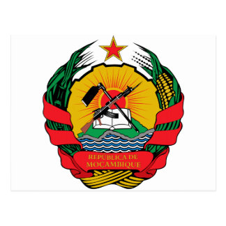 Mozambique Coat of Arms Postcard