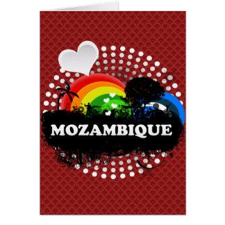 Mozambique con sabor a fruta lindo tarjeta