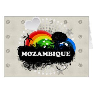 Mozambique con sabor a fruta lindo tarjeta de felicitación