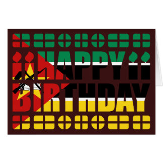 Mozambique Flag Birthday Card