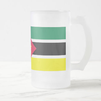 Mozambique Flag Frosted Glass Beer Mug