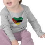 Mozambique Flag Heart T-Shirt