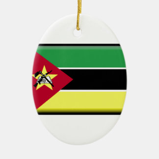 Mozambique Flag Christmas Tree Ornament